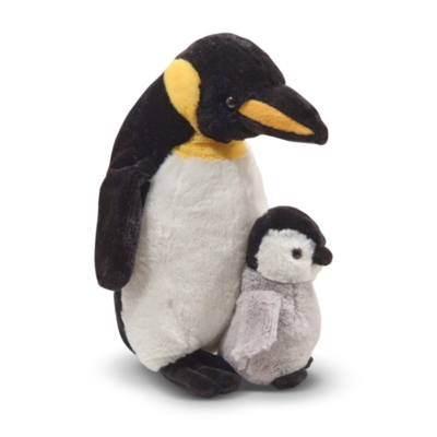 "Webber Penguin with Baby - 12"" Penguin by Melissa & Doug"