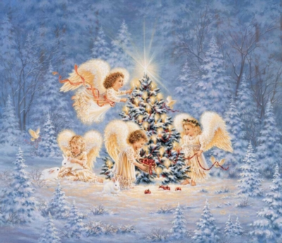 Silent Night Gentle Night - 550pc Jigsaw Puzzle By SunsOut