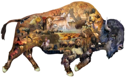 Prairie Dweller - 1000pc Shaped Jigsaw Puzzle by Sunsout