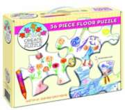 "Create Your Own 24&quotx36"" (w/jumbo crayons) � 36pc Floor Puzzle by Cobble Hill"