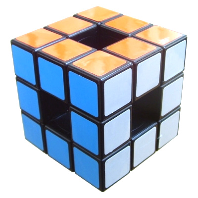 Hollow Cube, aka Void Cube (Black) - Puzzle Cube