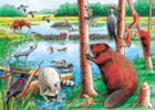 The Beaver Pond - 35pc Tray Puzzle by Cobble Hill