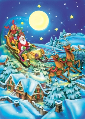Moonlight Santa - 20pc Tray Puzzle by Cobble Hill