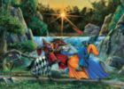 Sir Lancelot Meets Sir Tarquine - 48pc Tray Puzzle by Cobble Hill