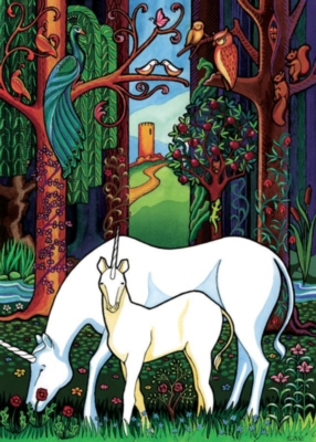 Unicorn Forest - 48pc Tray Puzzle by Cobble Hill