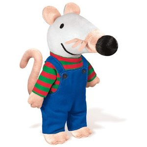 "Maisy in Overalls - 9.5"" Mouse"