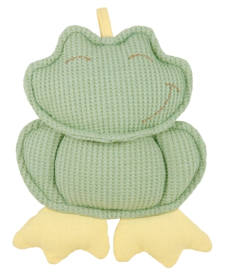 "Organic Frog Rattle - 6"" Soft Rattles & Teethers"