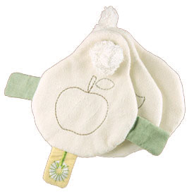 "Organic Crinkle Book - 5"" Soft Teether"