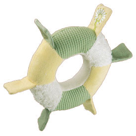 Organic Ring Rattle - 5&quot; Soft Rattles & Teether