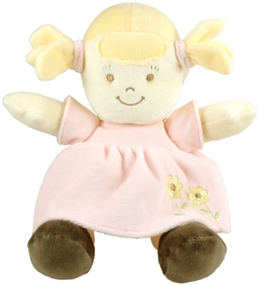 "Pink (Blonde) - 12"" Organic Toddler Doll"