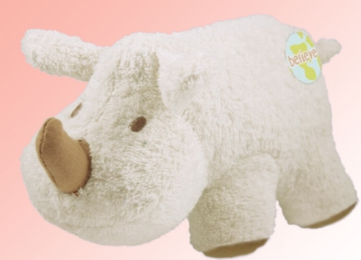"Organic 8"" Rhino (Believe) - Made w/ Organic Terrycloth & All Natural Fill"