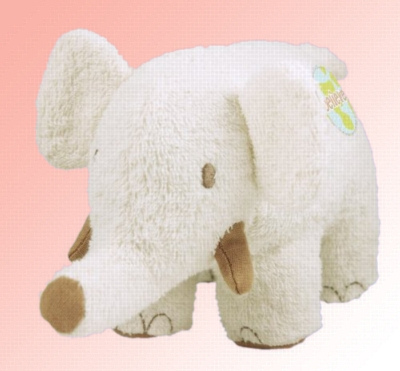 "Organic 8"" Elephant (Believe) - Made w/ Organic Terrycloth & All Natural Fill"