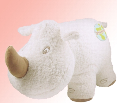 "Organic 14"" Rhino (Believe) - Made w/ Organic Terrycloth & All Natural Fill"