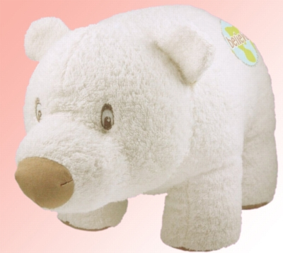 "Organic 14"" Polar Bear (Believe) - Made w/ Organic Terrycloth & All Natural Fill"