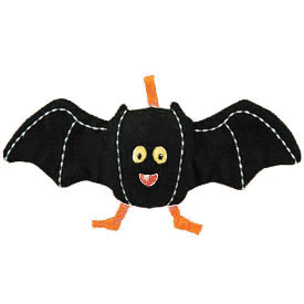 "Organic Crinkle Bat - 7.5"" Soft Teether"