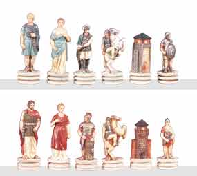 "Battle of Troy - 3.25"" Chessmen"