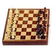 11&quot; Magnetic Inlaid Walnut - Chess Set