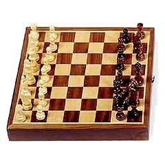 "Chess Sets - 11"" Magnetic Inlaid Walnut"