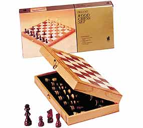 Chess in a Box with 15&quot; Board - Chess Set