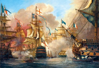 Battle of Trafalgar - 1000pc Jigsaw Puzzle by Castorland