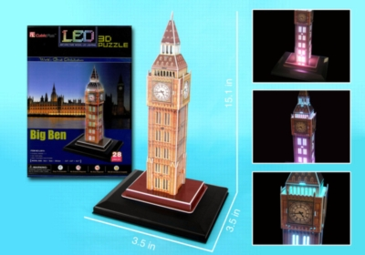 3D Puzzles - LED Light Up Version!: Big Ben
