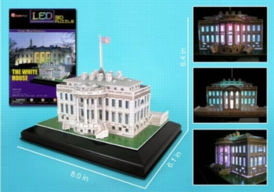 LED Light Up Version!: White House - 56pc 3D Jigsaw Puzzle by Daron