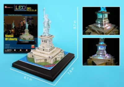 LED Light Up Version!: Statue of Liberty - 37pc 3D Jigsaw Puzzle by Daron