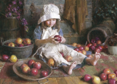 Apple Girl - 1000pc Jigsaw Puzzle By Holdson