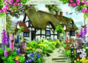 Rose Cottage - 1000pc Jigsaw Puzzle By Holdson
