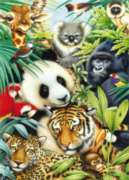 Panda Montage - 1000pc Jigsaw Puzzle By Holdson