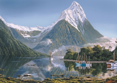 Mitre Peak, Milford Sound - 1000pc Jigsaw Puzzle By Holdson