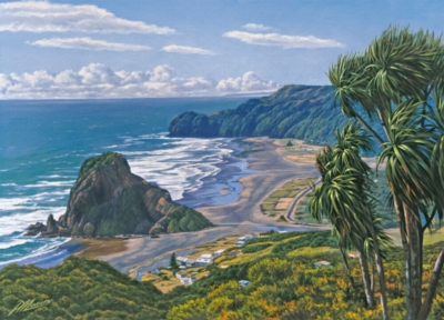 Lion Rock, Piha - 1000pc Jigsaw Puzzle By Holdson
