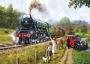 Watching The Trains - 1000pc Jigsaw Puzzle By Holdson