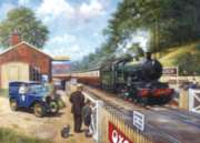 Train Spotting With Grandad - 1000pc Jigsaw Puzzle By Holdson