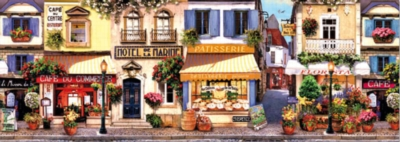 Motel de la Marine - 1000pc Panoramic Jigsaw Puzzle by Educa