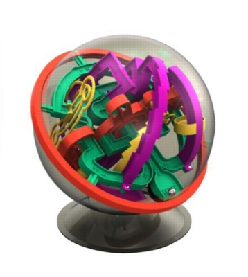 Perplexus Rookie - 70 Barriers! Track In A Sphere - Maze Puzzle