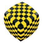 V-Cube 7 Illusion (Black & Yellow) - Puzzle Cube