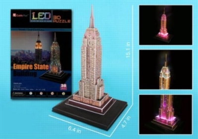 LED Light Up Version!: Empire State Building - 38pc 3D Jigsaw Puzzle by Daron