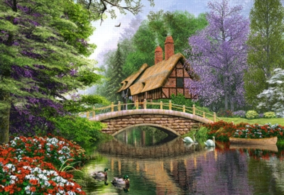 River Cottage - 1000pc Jigsaw Puzzle By Castorland