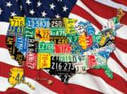 State Plates - 400pc Family Style Jigsaw Puzzle by Springbok