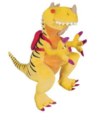 "How Do Dinosaurs Go To School? -  12"" Dinosaur by MerryMakers"