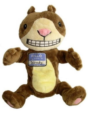 "Scaredy Squirrel - 12"" Squirrel Puppet by MerryMakers"