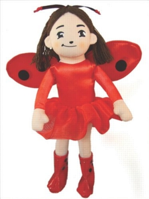"Ladybug Girl - 10"" Doll by MerryMakers"