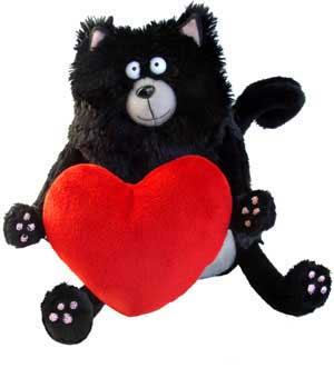"Splat the Cat (w/ heart) - 8.5"" Cat by MerryMakers"