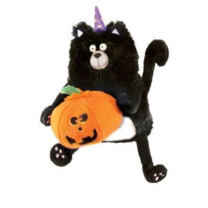 "Splat the Cat, Scaredy-Cat (w/ pumpkin) - 9"" Cat by MerryMakers"