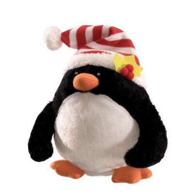 "Rolly Polly Penguin - 9"" Christmas By Gund"