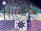 Snowy Indigo Evening - 300pc Large Format Jigsaw Puzzle By Sunsout