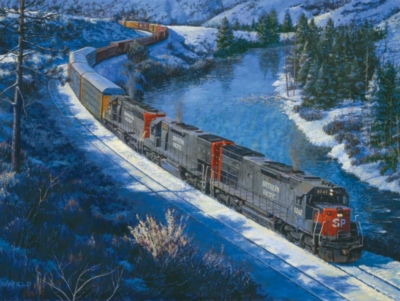 Jigsaw Puzzles - Winter on the Truckee River