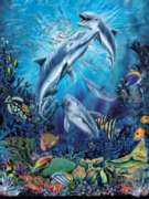 Dolphin Antics - 500pc Jigsaw Puzzle By Sunsout