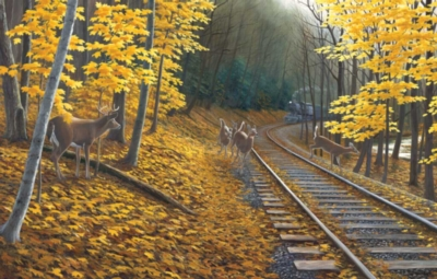 Fall Deer Tracks - 500pc Jigsaw Puzzle By Sunsout